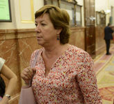 Pilar Barreiro, en una imagen en los pasillos del Congreso en 2014.