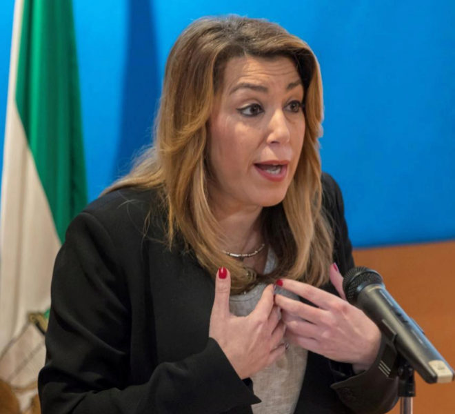Susana Díaz, el jueves, en un acto en Tomares (Sevilla).