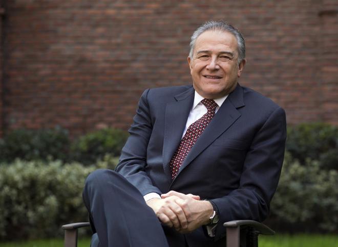 El vicepresidente de Colombia, Óscar Naranjo, en Madrid.