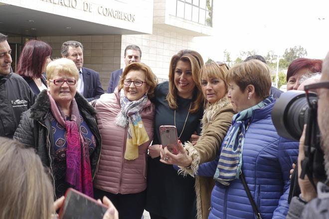 La presidenta de la Junta, Susana Díaz, durante su visita este viernes a Jaén.