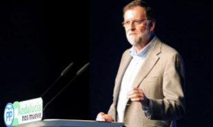 Mariano Rajoy, durante su intervención en el acto del PP en Marbella.