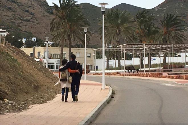 Los padres de Gabriel, Patricia Ramírez y Ángel Cruz, tras el...
