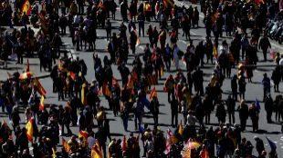 Foto de una manifestación de de SCC en Barcelona