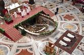 Un momento de la misa de ayer en la Basílica de San Pedro, en la...