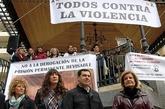 Pilar Marín, Dolores López, Juan Manuel Moreno y Fátima Báñez, el...
