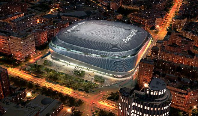 Recreación del futuro Bernabéu, una vez realizada la reforma completa del proyecto