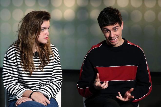 Amaia y Alfred, durante una entrevista.