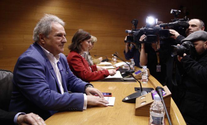 El ex presidente de la Diputación, Alfonso Rus, en la comisión de las Cortes.