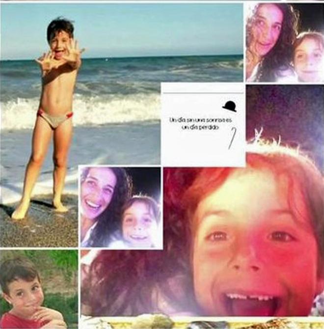 el montaje fotográfico enviado por los padres de Gabriel.