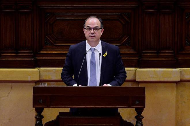 El candidato a la presidencia de la Generalitat, Jordi Turull