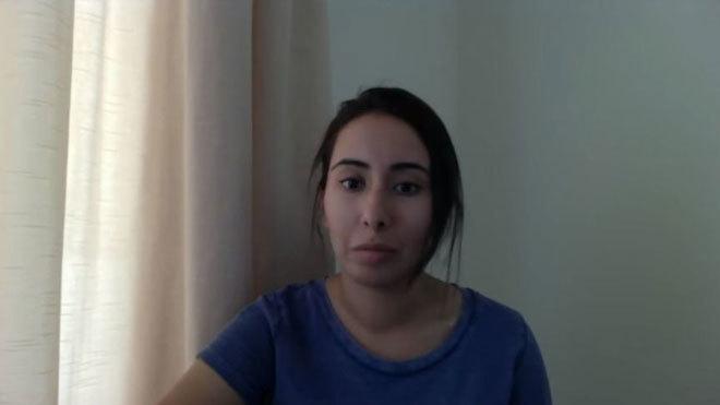 Sheija Latifa, en un vídeo que publicó en Youtube.
