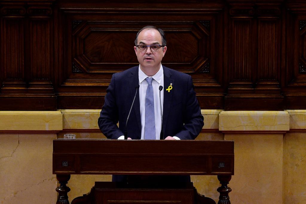 Jordi Turull durante su intervención