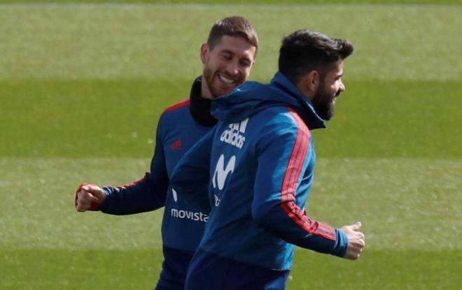 La sonrisa pícara de Sergio Ramos