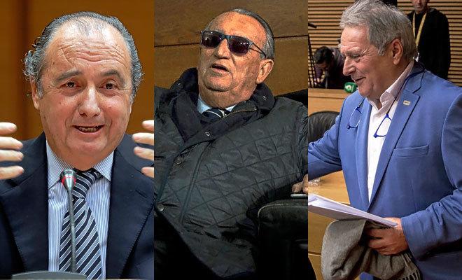 José Joaquín Ripoll, Carlos Fabra y Alfonso Rus.