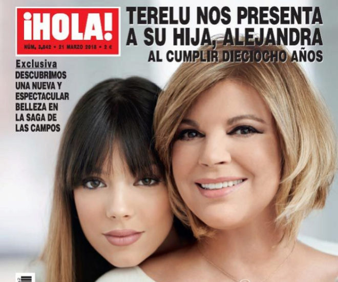 Imagen del número de ¡Hola! en el que Terelu y su hija fueron portada.