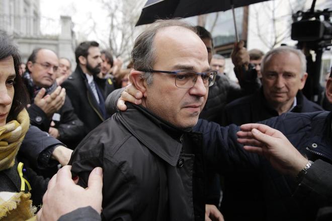 Jordi Turull a su vuelta al Supremo para conocer la decisión de...