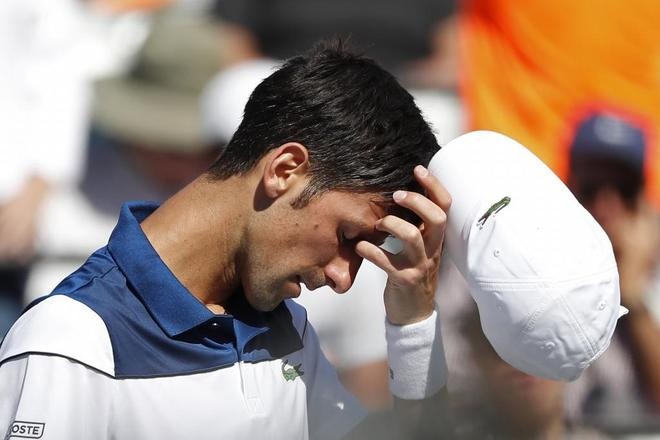 Novak Djokovic , tras perder ante Benoit Paire.