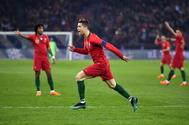 Cristiano Ronaldo celebra el segundo gol ante Egipto.