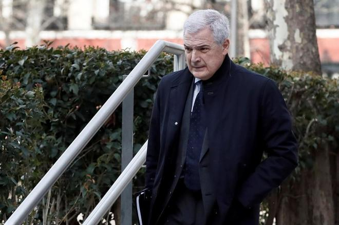 El ex director general del grupo OHL, Rafael Martín de Nicolás, llega a la Audiencia Nacional el pasado martes.
