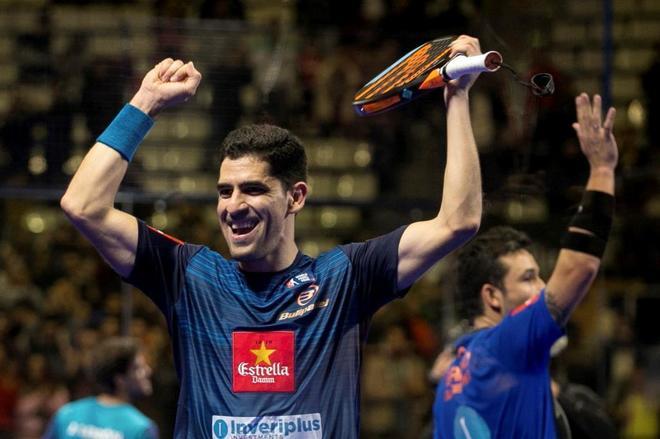 Maxi Sánchez (delante) y Sanyo Gutiérrez celebran su triunfo en el Masters de Catalunya.