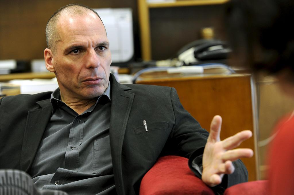 El ex ministro de finanzas griego, Yanis Varoufakis, en una entrevista con EL MUNDO.