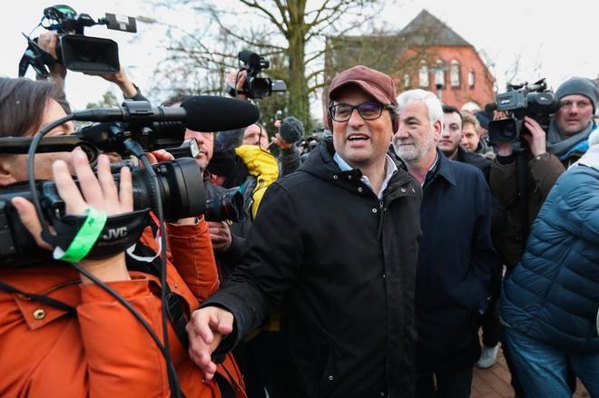 Quim Torra, diputado de Junts per Catalunya, a su llegada a la...
