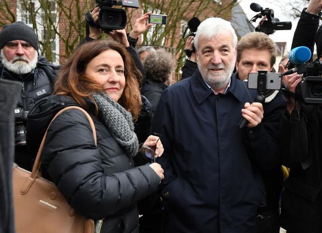 El empresario 'Jami' Matamala y la alcaldesa de Sant Cugat, Mercè Conesa, en Alemania el lunes