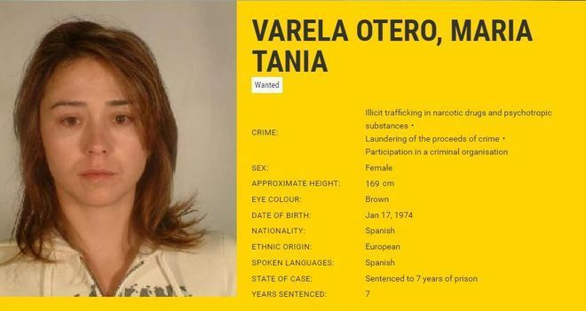 Tania Varela, la narco gallega detenida por los Mossos