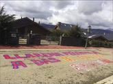 Pintadas cerca de la casa del juez Pablo Llarena