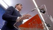El presidente de Ciudadanos, Albert Rivera, en una conferencia de...