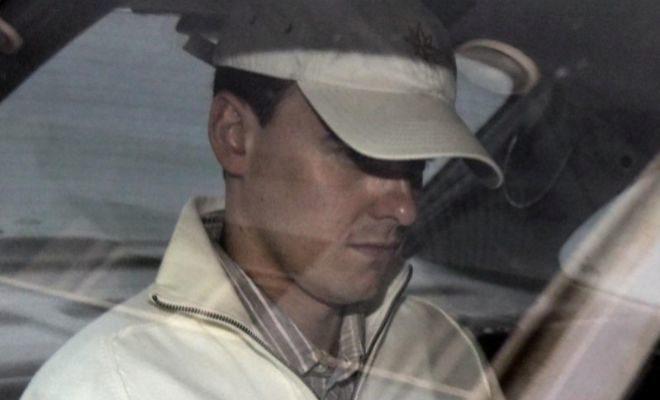 El hijastro de Laureano Oubiña, David Pérez Lago, tras declarar en...