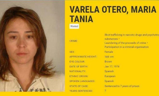 Ficha de la Europol de Tania Varela. Era la única española en la...