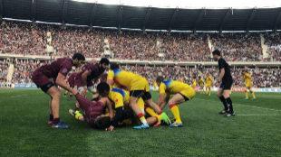 Lance del encuentro entre Rumanía y Georgia del clasificatorio para...
