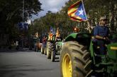 Movilización de tractores por las calles de Barcelona en una de las...