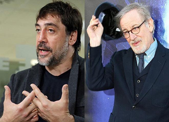 Javier Bardem y Steven Spielberg.