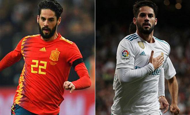 Isco, con España ante Alemania y con el Madrid ante el Espanyol.
