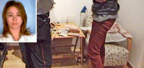 Fotograma de la detención de Tania Varela junto a una imagen de la...