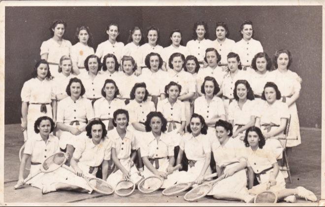 Un grupo de raquetistas en una imagen cedida por la Asociación Raketistak Lehen eta Orain.