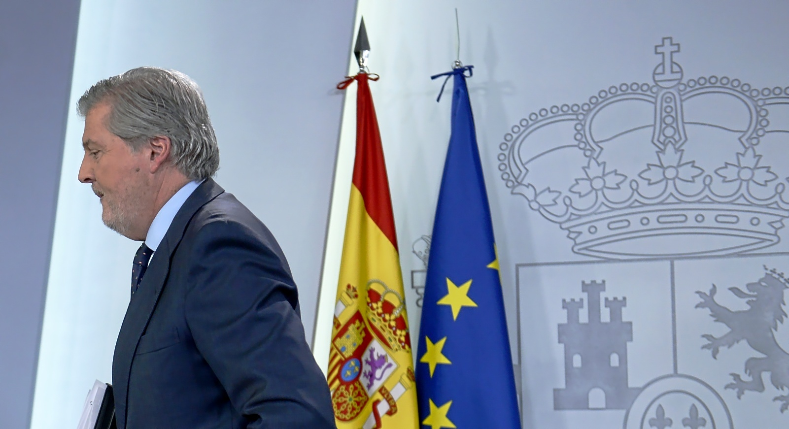 Íñigo Méndez de Vigo, portavoz del Gobierno y ministro de Educación, Cultura y Deportes, en una rueda de prensa posterior al Consejo de Ministros.