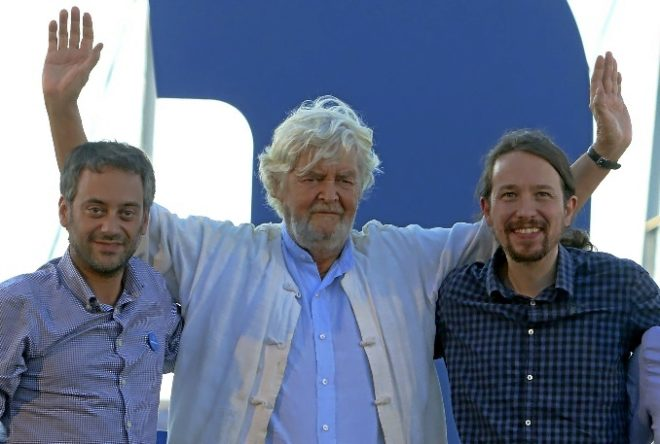 Xulio Ferreiro, Xosé Manuel Beiras y Pablo Iglesias.