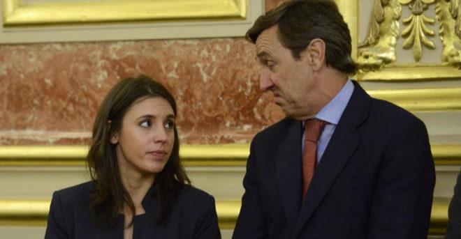 Los portavoces de Podemos y PP en el Congreso, Irene Montero y Rafael...