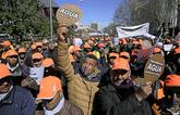 Los regantes y agricultores de Murcia protestaron en Madrid a...