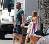 Ben Affleck, con las niñas que tiene con Jennifer Garner.