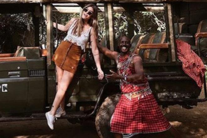 Aida Domenech, Dulceida, en un momento de su safari africano.