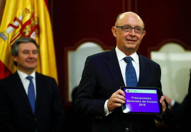 Cristóbal Montoro, en la presentación de los Presupuestos para 2018.