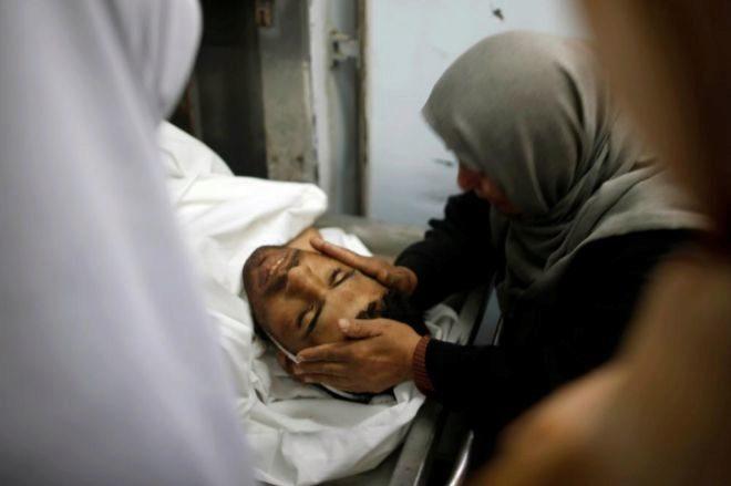 El joven palestino muerto por disparos de los soldados israelíes, en Gaza.