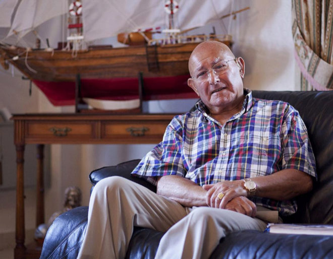 Manuel Charlín, patriarca del clan de los charlines, durante una...