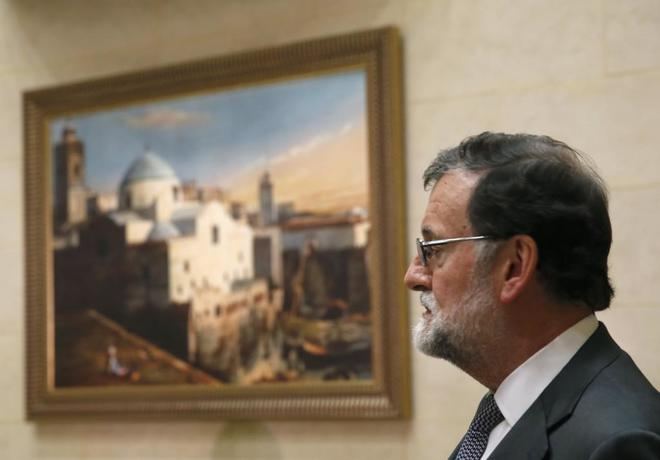 El presidente del Gobierno, Mariano Rajoy, durante su viaje a Argelia