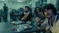 Jorge Luis Ochoa Vásquez (Harlys Becerra), Jason Trigueros (Gilberto Rodríguez Orejuela) y Sito Miñanco (Javier Rey), en el quinto capítulo de la serie 'Fariña'.