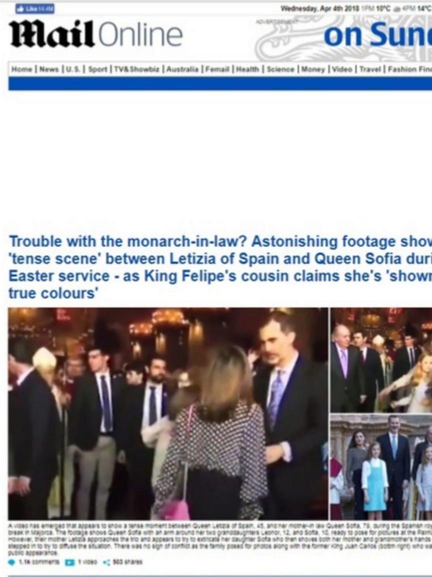 La web del formato dominical del Daily Mail lleva en portada el...